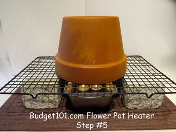 In case the power goes out and you need heat. Heres's an easy flower pot heater.