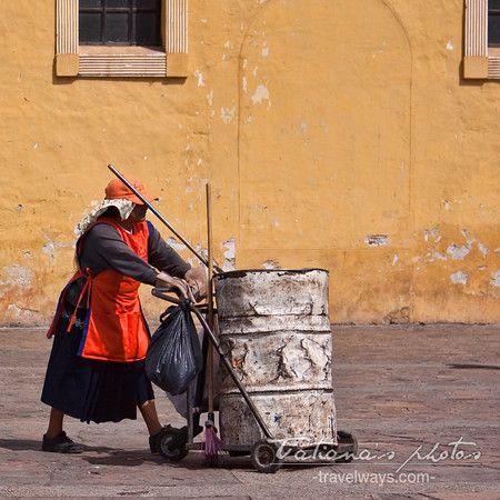 Cleaning lady - San Cristobal de Las Casas, Chiapas, Mexico