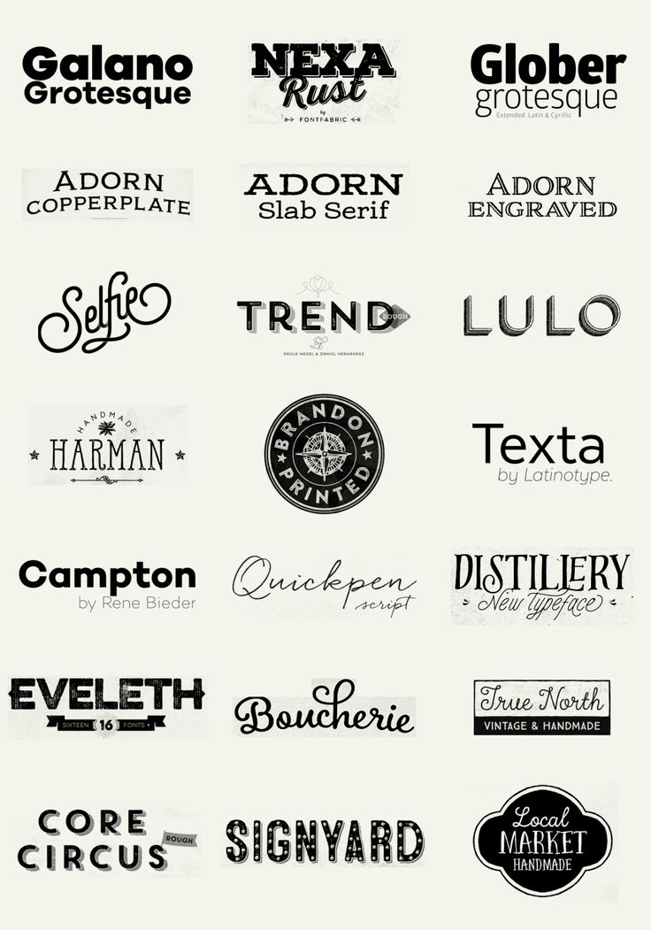 100 Best Fonts of 2014To close the big feature I made to the best fonts of 2014 here I bring you a big wall post of the 100 fonts in a form of a logotype, just as the designers have decided to display and promote their own typefaces.  Check the big list below and click the name you want: Galano Grotesque by Rene Bieder Nexa Rust by Fontfabric Glober by Fontfabric Adorn by Laura Worthington Selfie by Lián Types Trend Rough by Latinotype Lulo Clean by Yellow Design Studio Harman by Ahmet ...