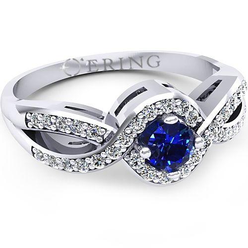 Inel logodna L59ASF cu safir si diamante