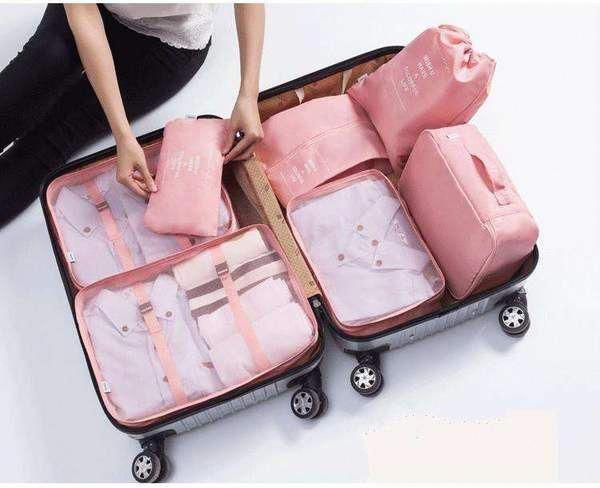 Travel Luggage Couple Travelluggagetips In 2020 Travel Bag Organization Travel Organization Make Up Organiser