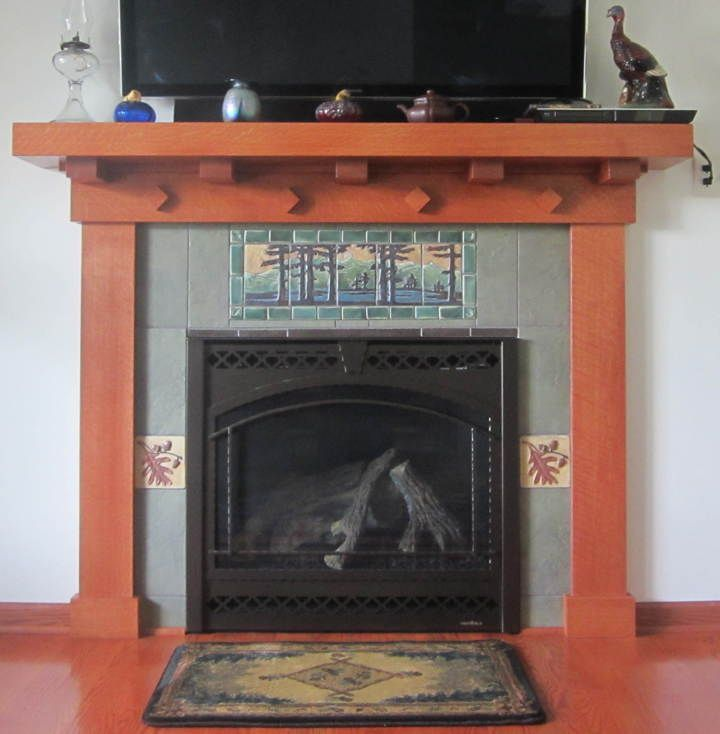Best 25 craftsman fireplace screens ideas on pinterest for Arts and crafts fireplace tile