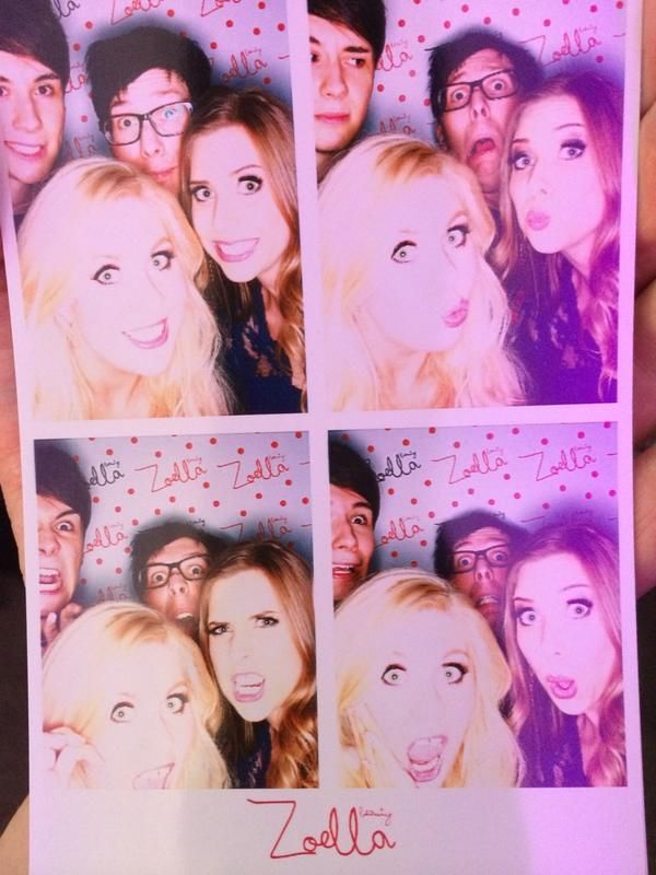 Dan, Phil, Louise, and Hazel at Zoella's party :D congrats on 6 million Zoe!! :))