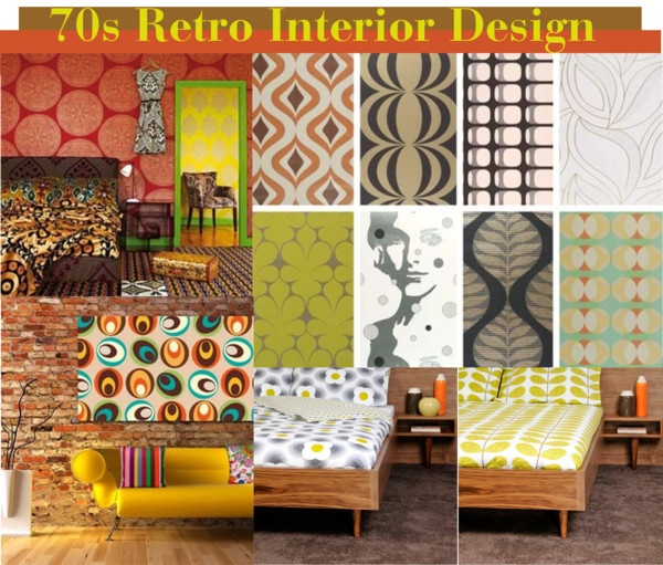 70s retro interior design by christenjune liked on for Interior design 70s style