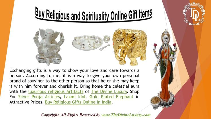 The spirit of gifting should be selfless without any expectation. At the same time when one is supposed to expect a gift, it should be free of any judgements or expectations. Shop For Silver Pooja Articles, Laxmi Idol, Gold Plated Elephant in Attractive Prices. Buy Religious Gifts Online In India.So, have Buy God Idols Gifts Online at Best Price in India and make them feel loved!