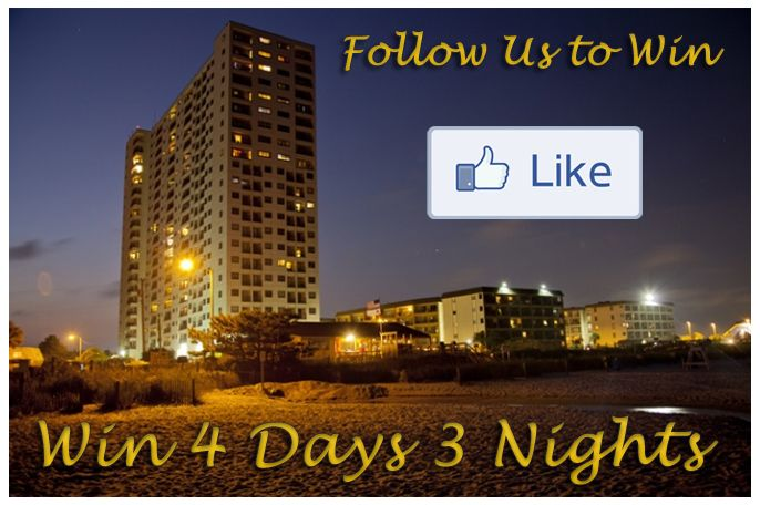 Win 4 Days 3 Nights at Myrtle Beach Resort. All you have to do is Enter your Email, Like, Tweet, Follow, Pin, and +1 us. Hurry and Enter to win!
