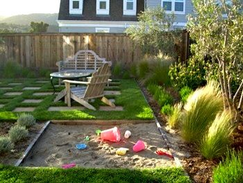 Kids #sandpit fun in sunny #backyard Read great articles on gardening here http://articles.builderscrack.co.nz/category/gardening/ or hire a gardener or #landscape #architect  today from #Builderscrack http://builderscrack.co.nz/post-job-desc