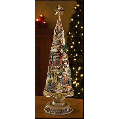 """Nativity Christmas Tree, 20.75"""""""