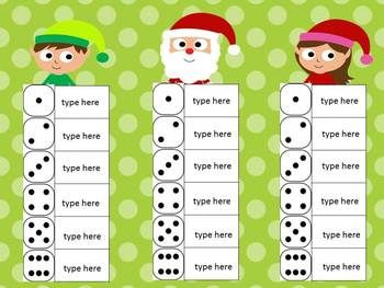 Sight Word Roll and Write (Editable) Center for All Year!  This set is 116 pages with 53 different themes to use through the year.  $