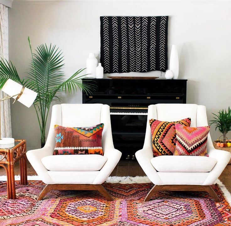 Boho vibes in the living room