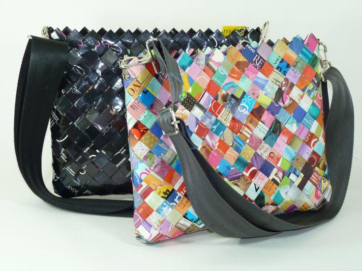 Bolsos matvolta hechos con papel de revistas