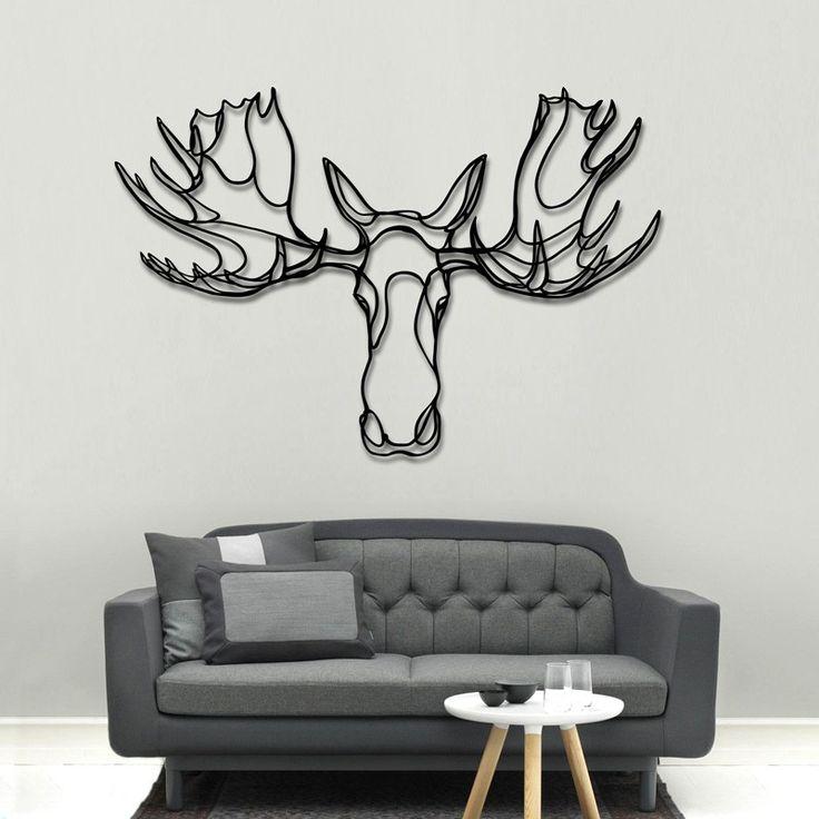 Moose Head wooden sign