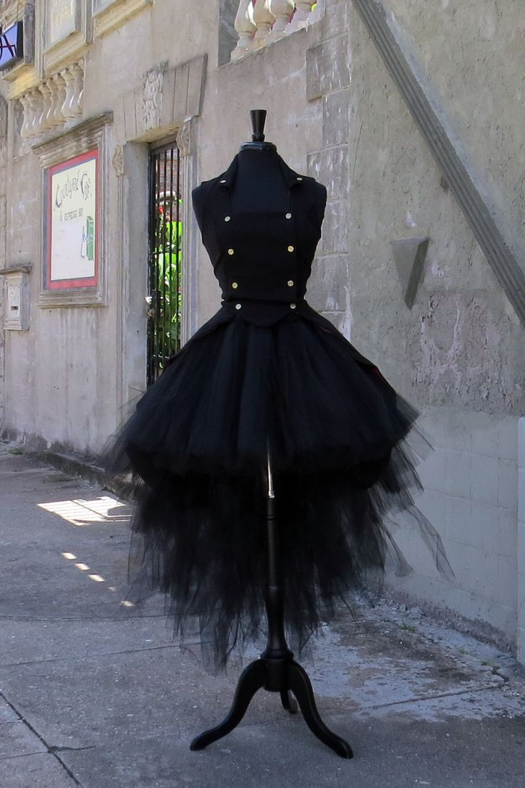 Steampunk High low skirt for Halloween Costume.  Perfect for gothic, witch…