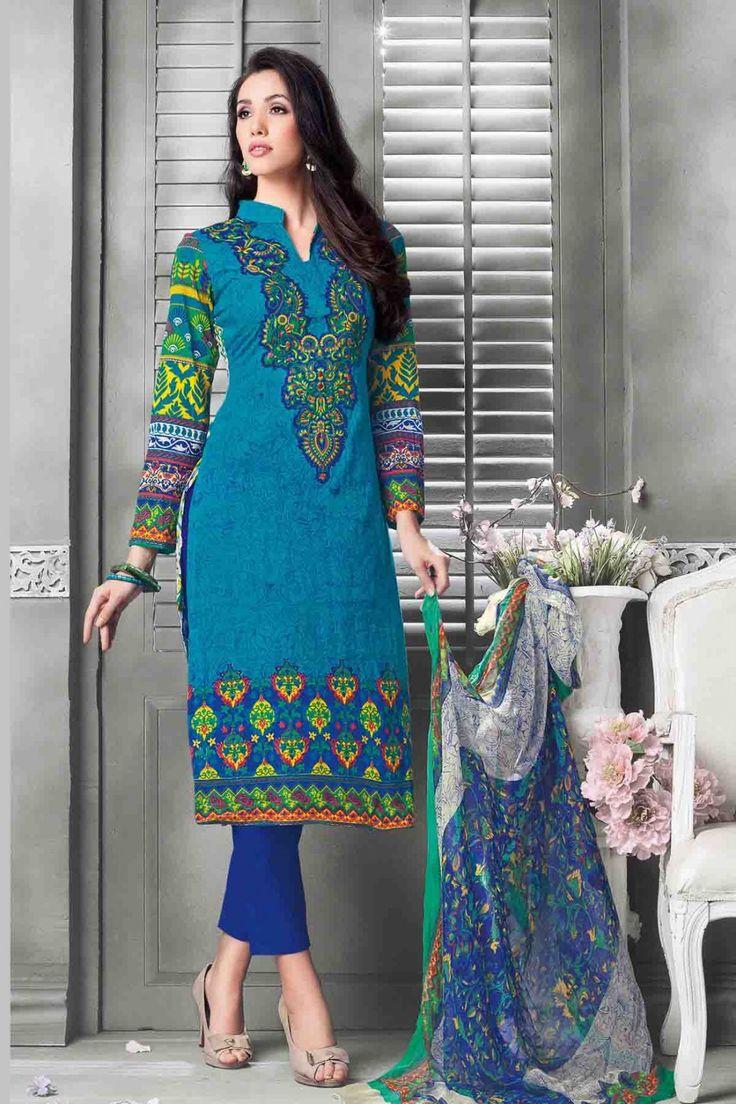 Blue Cotton Salwar Kameez #party #salwar #kameez @ http://zohraa.com/salwar-kameez.html #zohraa #onlineshop #womensfashion #womenswear #bollywood #look #diva #party #shopping #online #beautiful #beauty #glam #bollywood #shoppingonline  #styles #stylish #model #fashionista #women #lifestyle