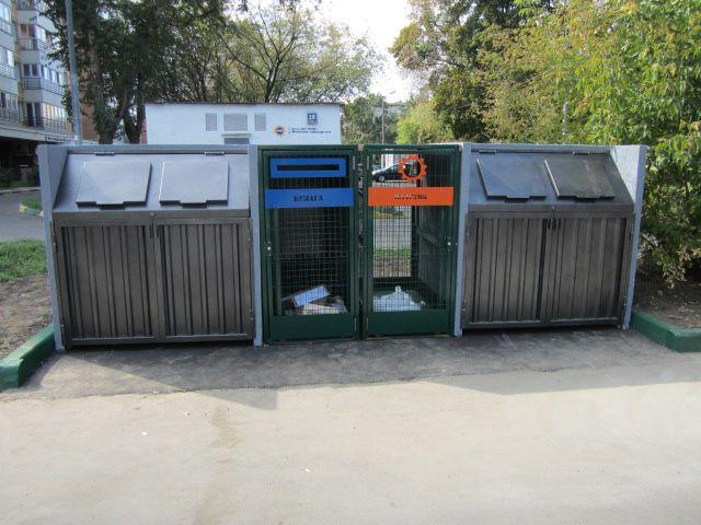 Инновационная контейнерная площадка для мусора герметичного типа Экобокс