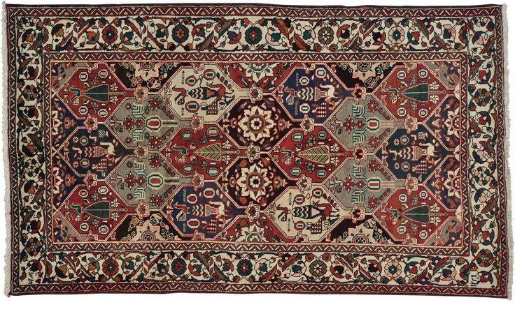 Gated Trailway (9' x 6') Bakhtiari rug from Iran - #handmade #persian #rugs #rug #handknotted #oneofakind #ooak #Bakhtiari #Iran #cotton #wool