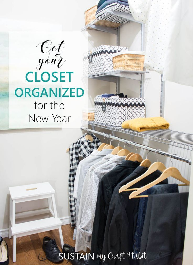 How to install a Rubermaid Configurations Closet organizing sytem | DIY home organization ideas #NewYearNewCloset #ad