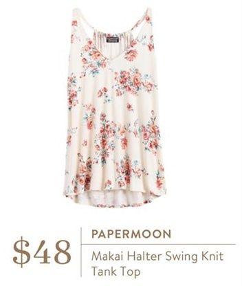 Ideas - Papermoon Makai Summer Floral Halter Swing Knit Tank Top - Stitch Fix