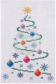 Image result for christmas tree with button ornaments cross stitch