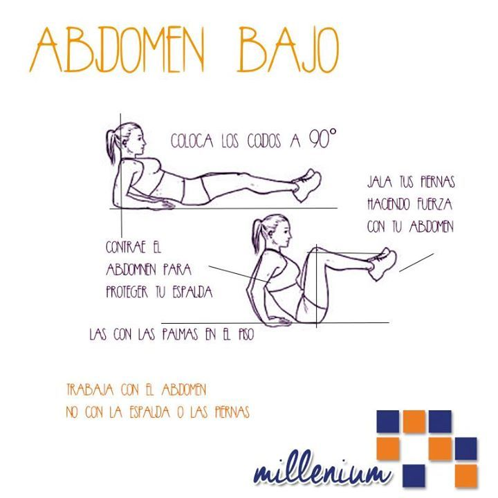 25+ best ideas about Ejercicios para abdomen bajo on Pinterest