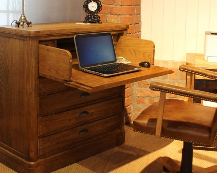 Constructed using solid and veneered oak, the Copeland Chest Desk from Carlton will be a clever addition to any home. Doubling up as a chest of drawers, the Chest Desk is compact, and extends out to reveal a large enough workspace for a laptop or tablet.