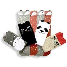 Niño Nuevo Totoro Diseño Calcetines Del Bebé Niñas niños Otoño Invierno Calentadores de La Pierna Calcetines Zorro Cojín de La Rodilla(China)