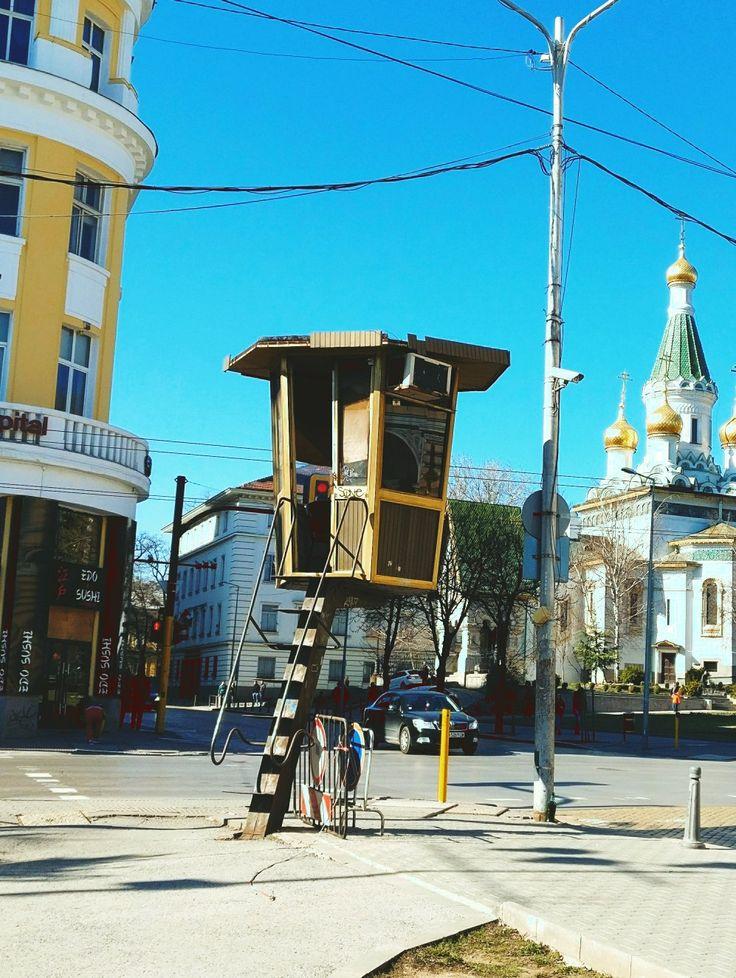 Sofia traffic police stations. Russian Church of St Nicholas