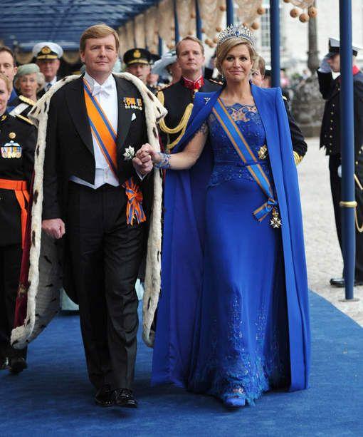 Queen Maxima with a beautiful dress from Dutch designer Taminiau