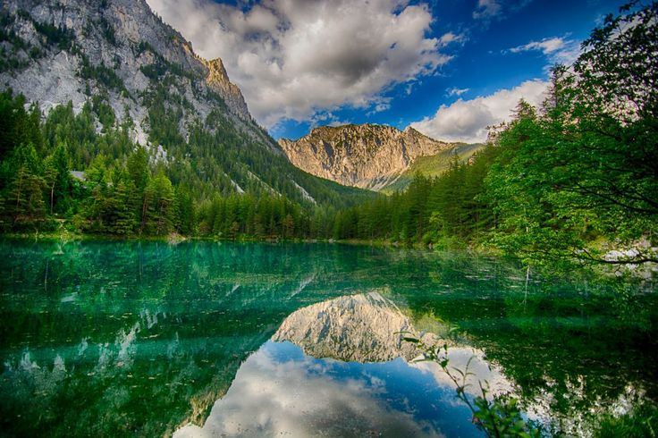 """Grüner See literally translates to """"Green Lake,"""" a name that originates from this sparkling emerald green water."""