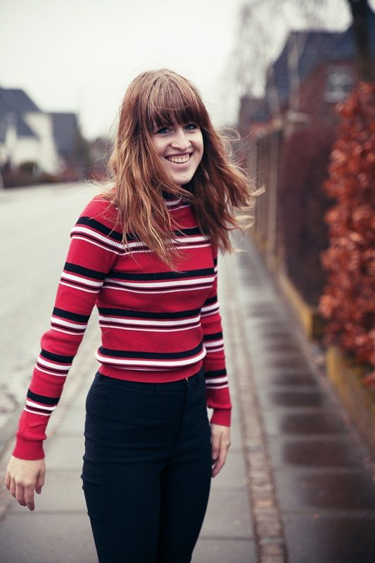 #stripes #striped #blouse #outfit #fashion #girl #photography #bangs #brownhair #hair #brown #look #lookbook