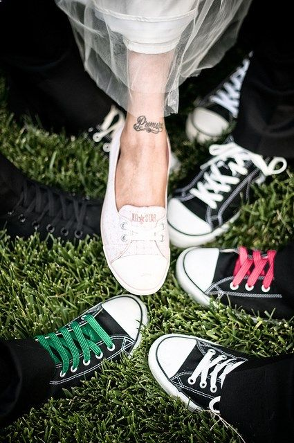 Shot my good friend's wedding awhile back. Everyone rocked converse shoes