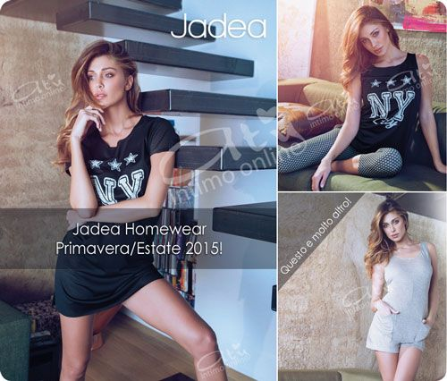 Pigiami donna con Jadea Home la collezione Jadea primavera Estate dedicata al dreamwear. #jadea #pigiami http://www.atyintimoonline.it/159-pigiami-donna-estivi
