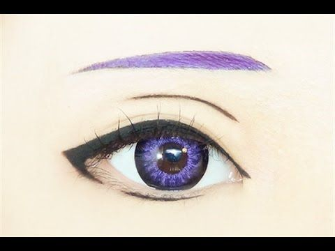 Tutorial : Anime Eye Makeup 162 • Kamishiro Rize - YouTube