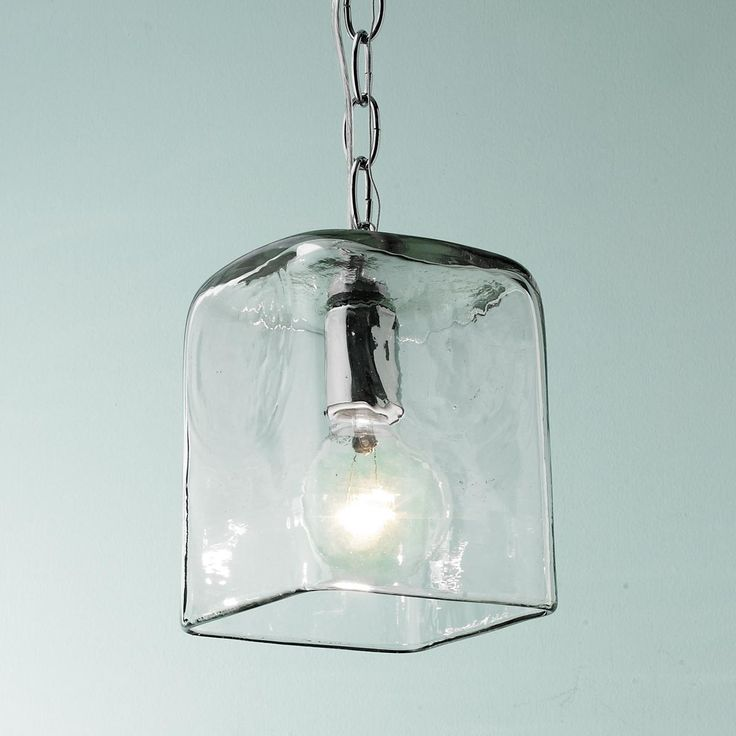 small square glass pendant light - Glass Pendant Lighting