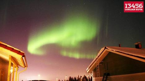 Aurora borealis in Jyvaskyla, Finland