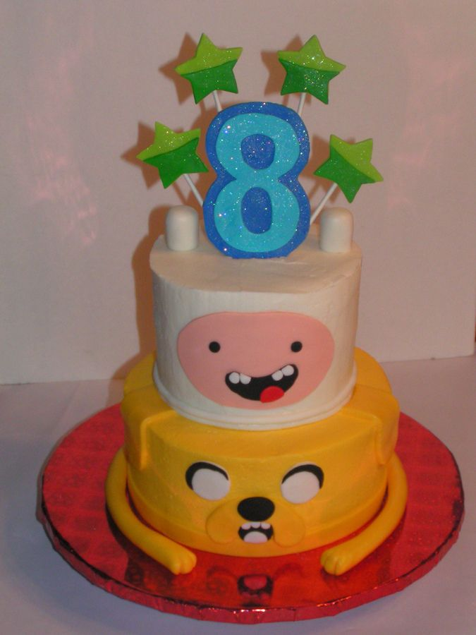 Cake Design Adventure Time : Adventure Time Finn & Jake birthday cake with fondant ...