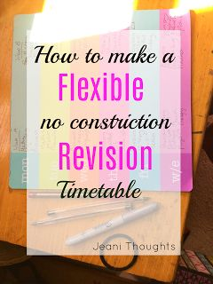 JEANI || ELLIE-JEAN ROYDEN: How to make a GCSE revision timetable pt 2 // flexible and notimeconstrictions