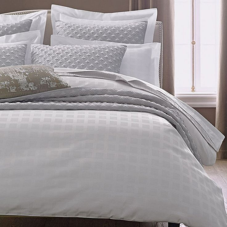 legends caldwell duvet cover sham subtly patterned with squares our count egyptian cotton bedding is woven to an