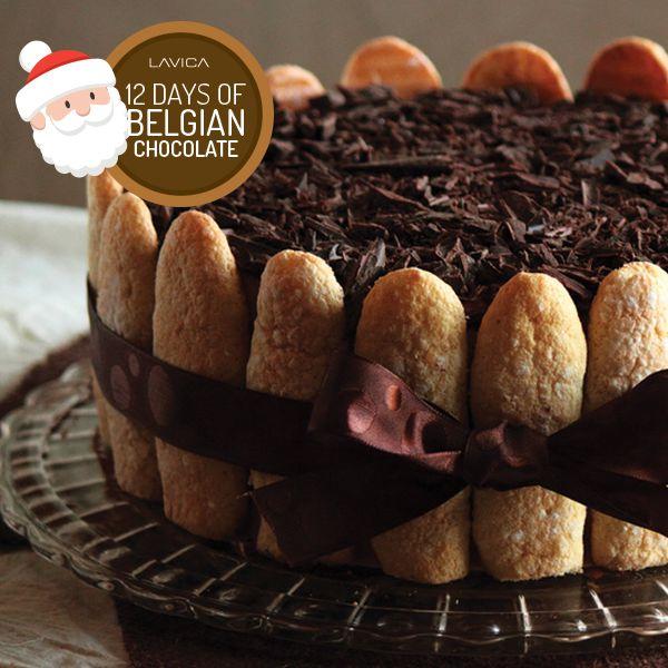 Belgian Chocolate Espresso Tiramisu Cake