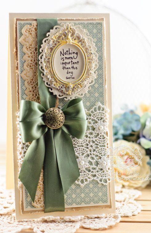 Card Making Ideas by Becca Feeken using Spellbinders Petite Lace - www.amazingpapergrace.com