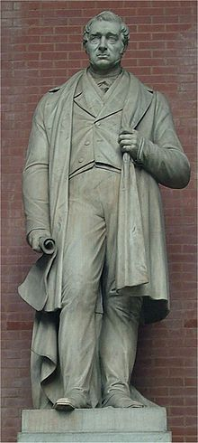 Statue of George Stephenson at the National Railway Museum, York