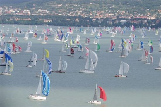Blue Ribbon Sailing Regatta on lake Balaton, Hungary