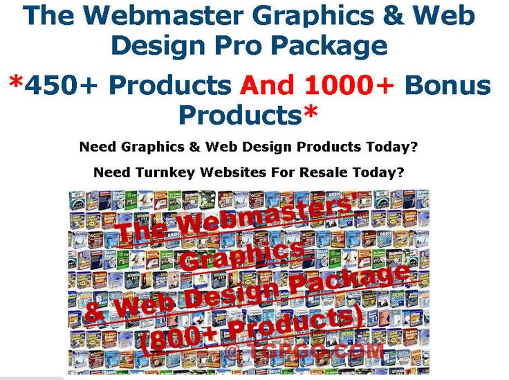 25 best projects to try images on pinterest the webmaster graphics and web design pro package with resell rights cddvd fandeluxe Images