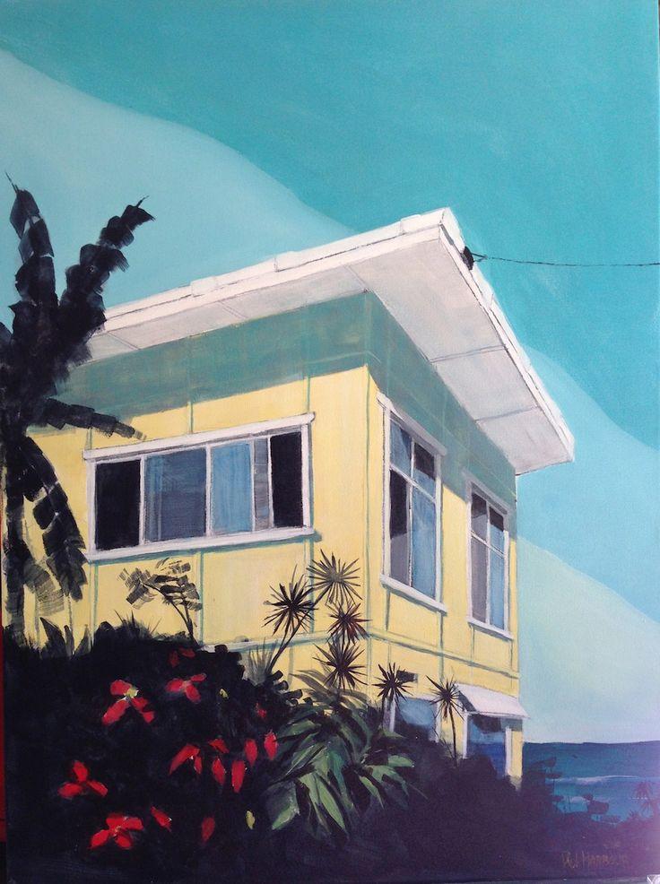 Brunswick Heads #beachshack Acrylic on canvas 75x100