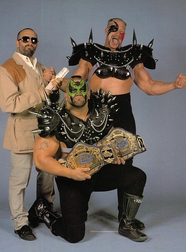 "The Road Warriors were a professional wrestling tag team composed of Michael ""Hawk"" Hegstrand and Joseph ""Animal"" Laurinaitis. Paul Ellering (born August 22, 1953) is a retired professional wrestling manager. He was also the real-life manager for the team; he booked their matches, lined up their flights, set up hotel reservations, and kept track of their expenses.On April 2, 2011, The Road Warriors with Paul Ellering were inducted into the WWE Hall of Fame."