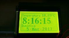 clock, termometru, ds18b20, st7920, arduino, rtc