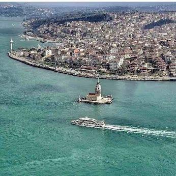 İstanbul Boğazı ve Kız kulesi panoramik görüntüsü! ✿ ❤ Güzel İstanbul'um!!!