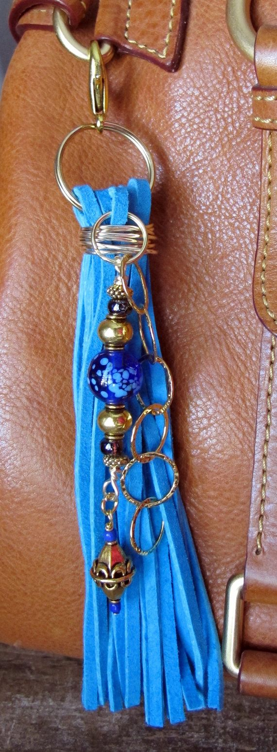 Purse Charm Tassel Zipper Pull Key Chain by ThePaintedCabeza