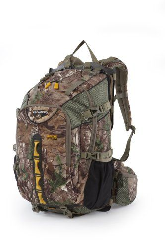 Tenzing TZ CF Legend Hunting Backpack, Realtree Max Xtra. Aerospace 24-inch carbon fiber frame. Adjustable perfect fit pre-arched shoulder straps. Revolutionary waist belt design. Dyneema back panel shelf system. Multiple straps to secure any type of load.