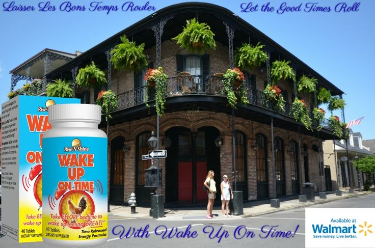 """Now you can """"laissez les bons temps rouler"""" or """"let the good times roll"""" in New Orleans. Take all natural and made in the USA Wake Up On Time and get out and enjoy the day! At Walmart locations nationwide! Image by Kalzen. #risenshine #wakeup #wakeupontime #nutritionalsupplements #allnatural #madeintheusa #madeinusa #madeinamerica #vitamins #aminoacids #herbs #walmart #nongmo #crueltyfree #usa #louisiana #neworleans #frenchquarter #laissezlesbonstempsrouler #letthegoodtimesroll #energy…"""